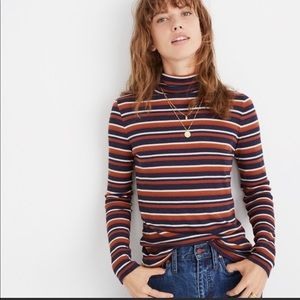 Madewell Striped Turtleneck Top